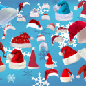 Santa Hats collection for Photoshop