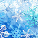 Snow crystal brushes for Photoshop