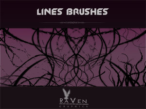 Lines brushes for Photoshop